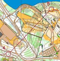 SM-sprintti 2005 Huhtiniemessä. 4-5-väli aitojen läpi.